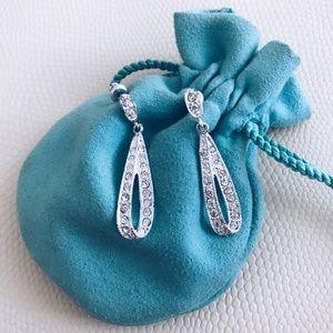 Silver diamond fashion earrings